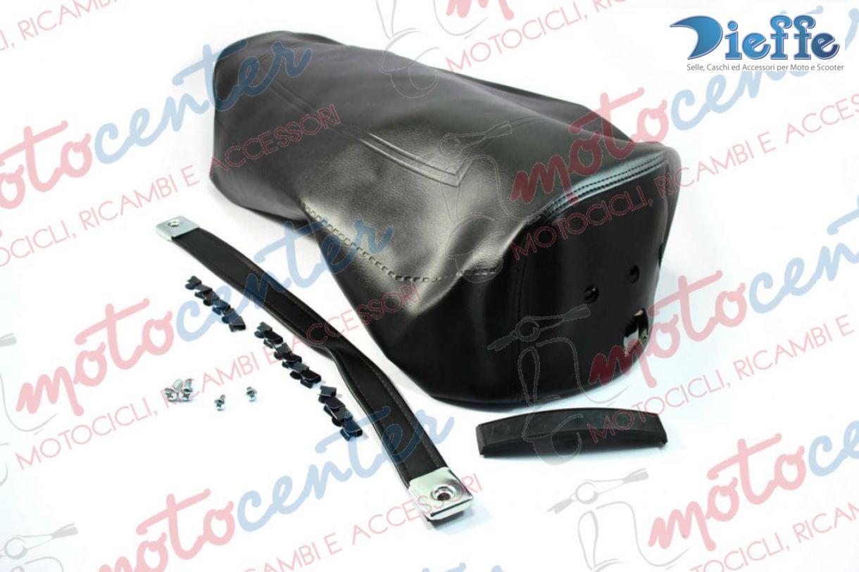 7877 black cover saddle vespa px 125 150 200 rainbow 39 84. Black Bedroom Furniture Sets. Home Design Ideas