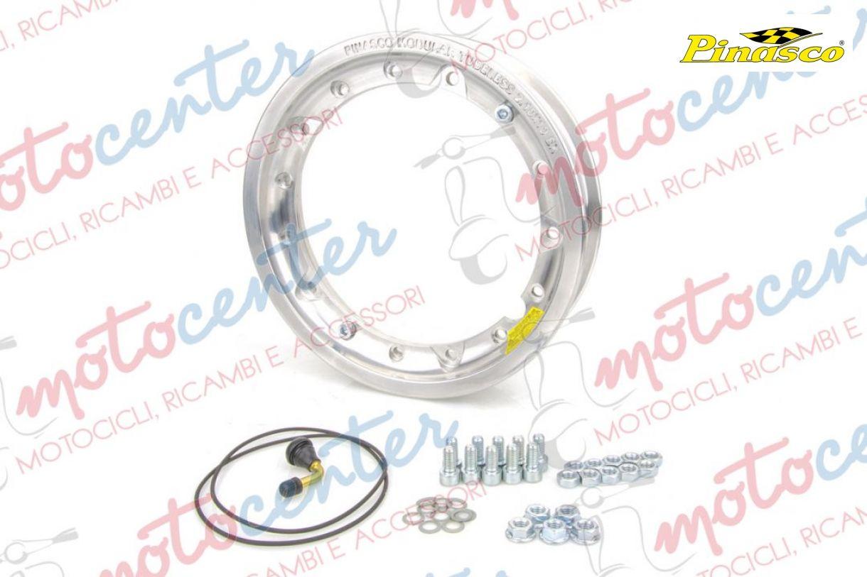 Pinasco Cerchio TUBELESS 3.50.10 in Alluminio Lucido SCOMPONIBILE Piaggio Vespa PX 125 150 200 Art 25472000